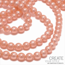 Swarovski 5810 6mm Round Pearl Beads - Crystal Peach - 25pk