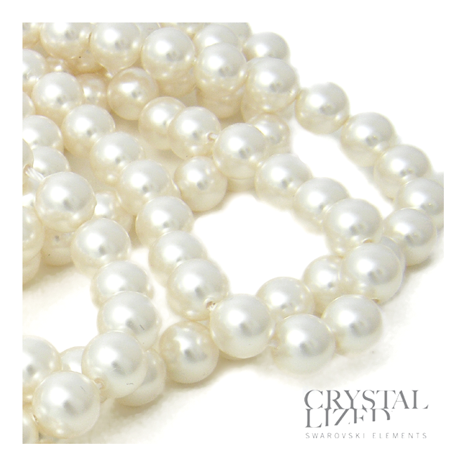 5810 6mm Round Pearl Beads - Crystal White - 25pk
