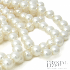 Swarovski 5810 6mm Round Pearl Beads - Crystal White - 25pk
