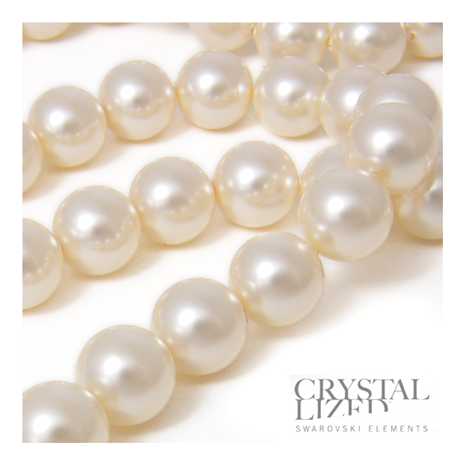 5810 8mm Round Pearl Beads - Crystal Cream - 20pk