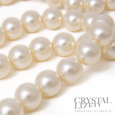 Swarovski 5810 8mm Round Pearl Beads - Crystal Cream - 20pk