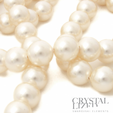 Swarovski 5810 8mm Round Pearl Beads - Crystal Creamrose Light - 20pk