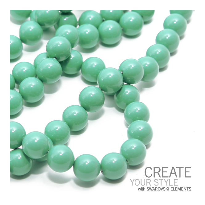 5810 8mm Round Pearl Beads - Crystal Jade - 20pk