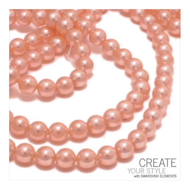 5810 8mm Round Pearl Beads - Crystal Peach - 20pk