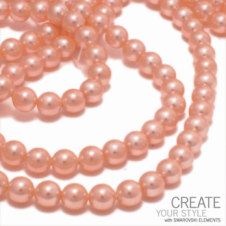 Swarovski 5810 8mm Round Pearl Beads - Crystal Peach - 20pk