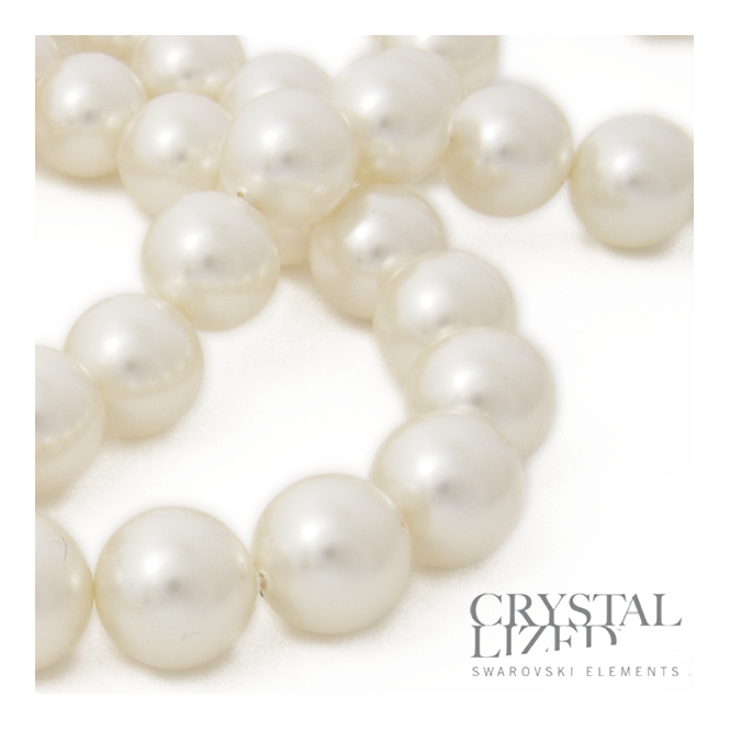 5810 8mm Round Pearl Beads - Crystal White - 20pk