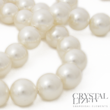 Swarovski 5810 8mm Round Pearl Beads - Crystal White - 20pk