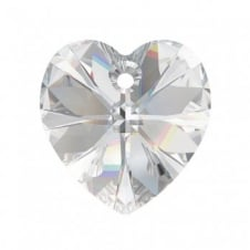 Swarovski 6228 Xilion Hearts 14mm - Crystal - 2pk