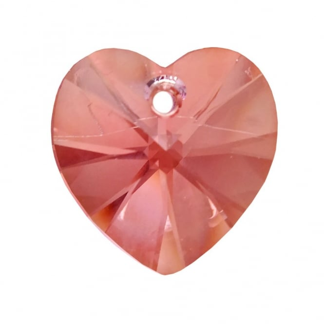 Swarovski 6228 Xilion Hearts 14mm - Light Rose - 1pk