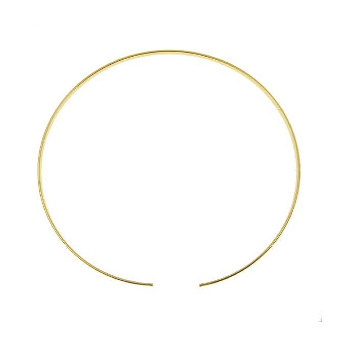 Tiara Band, Round Shaped - Gold Plated