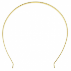 Tiara Band, U-Shaped - Gold Plated