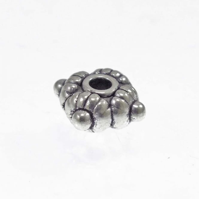 Tibetan Style Beads Patterned Square Spacer 6mm - Antique Silver Plated - 20pk