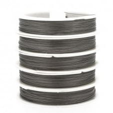 Tiger Tail Beading Wire 0.45mm (.018in) - Silver - 50m Roll