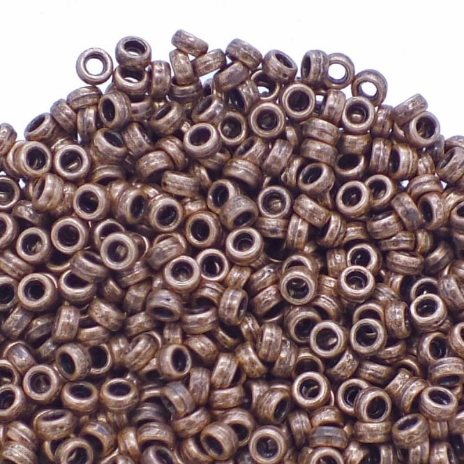 Tiny Rondelle Spacer Beads 4x2mm - Antique Copper Plated - 50pk