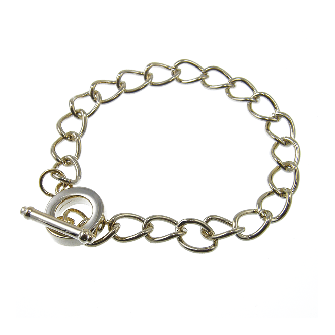Toggle Charm Bracelet - Champagne Plated