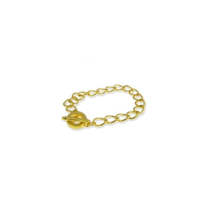 Toggle Charm Bracelet - Gold Plated - 1pk