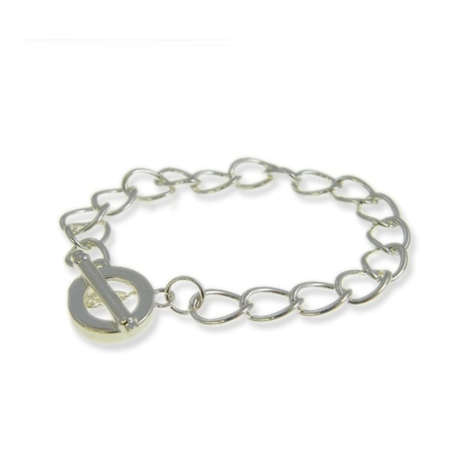 Toggle Charm Bracelet - Silver Plated - 1pk