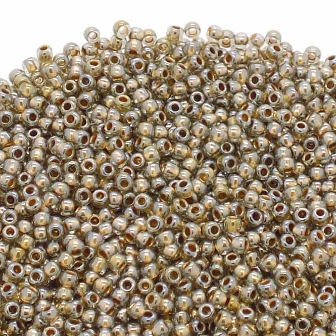 Toho Seed Beads 11/0 - Gold Lined Black Diamond - 10g