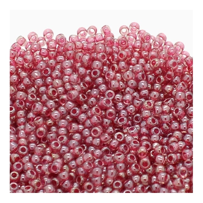 Seed Beads 11/0 - Inside Colour Light Amethyst/Fuchsia Lined - 10g