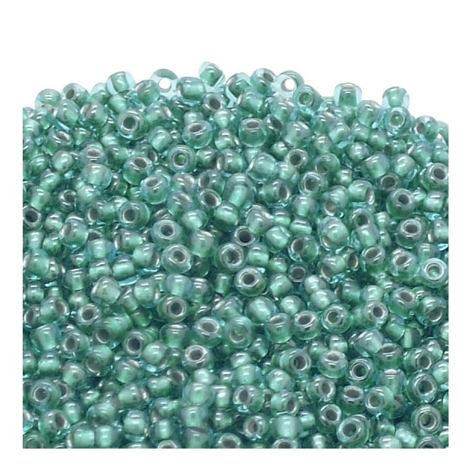 Seed Beads 11/0 - Inside Colour Light Sapphire/Metallic Teal Lined - 10g