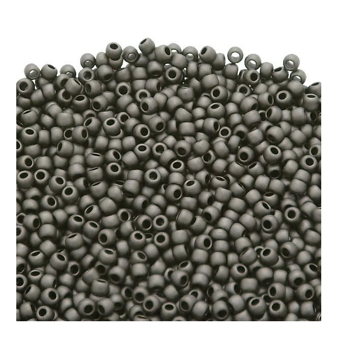 Seed Beads 11/0 - Matte Colour Opaque Gray - 10g