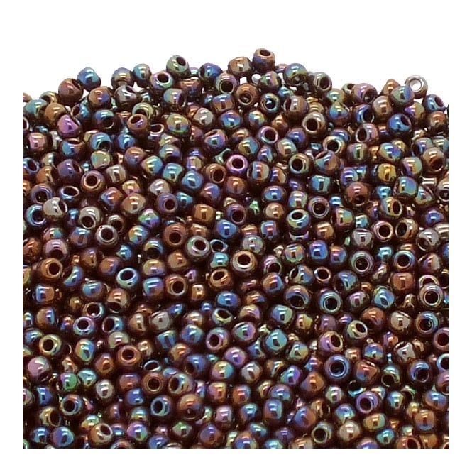 Seed Beads 11/0 - Opaque Rainbow Oxblood - 10g