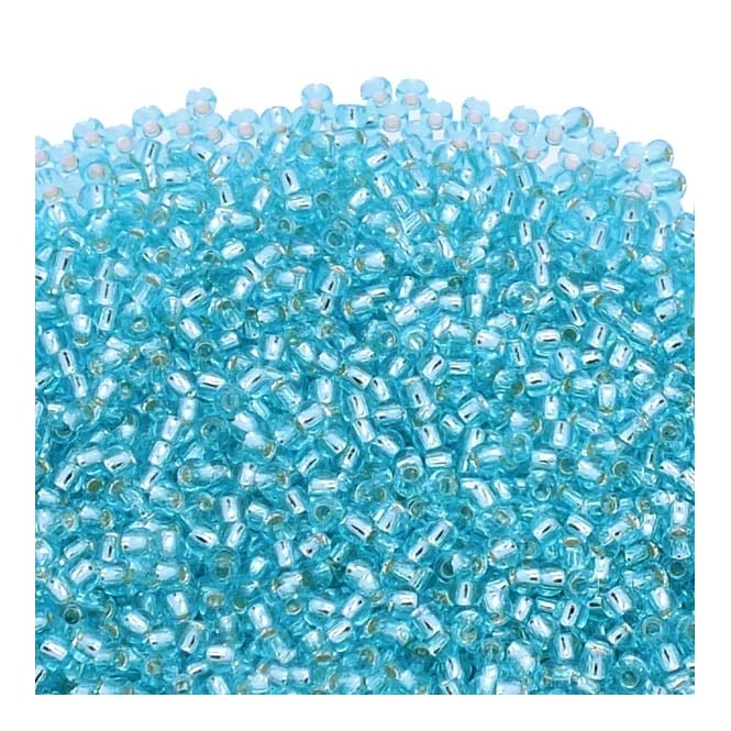 Seed Beads 11/0 - Silver Lined Aquamarine - 10g