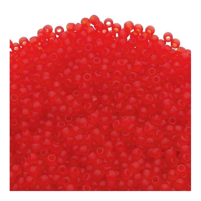 Toho Seed Beads 11/0 - Transparent Frosted Siam Ruby - 10g