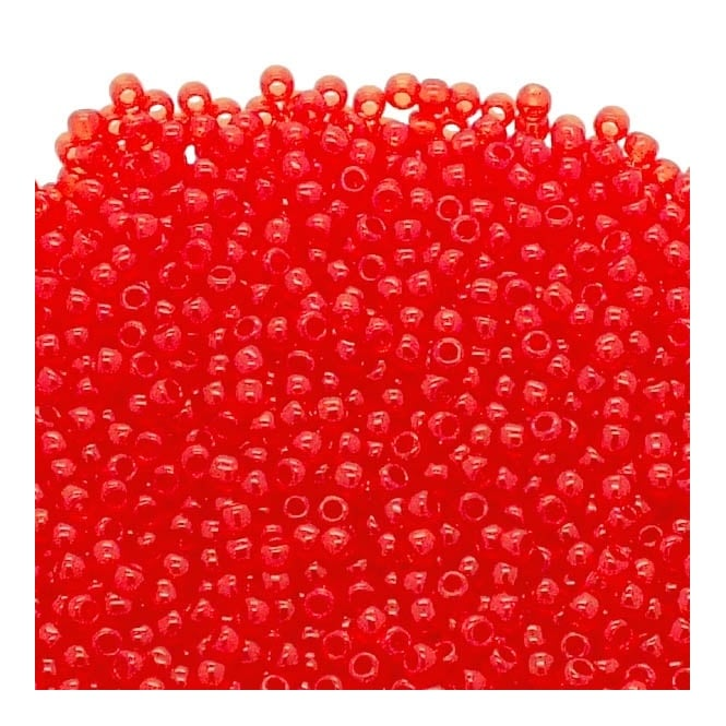 Seed Beads 11/0 - Transparent Siam Ruby - 10g