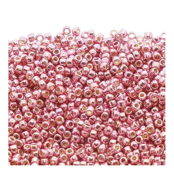 Seed Beads 15/0 - Permanent Finish Galvanized Pink Lilac - 10g