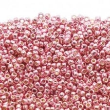 Toho Seed Beads 15/0 - Permanent Finish Galvanized Pink Lilac - 10g