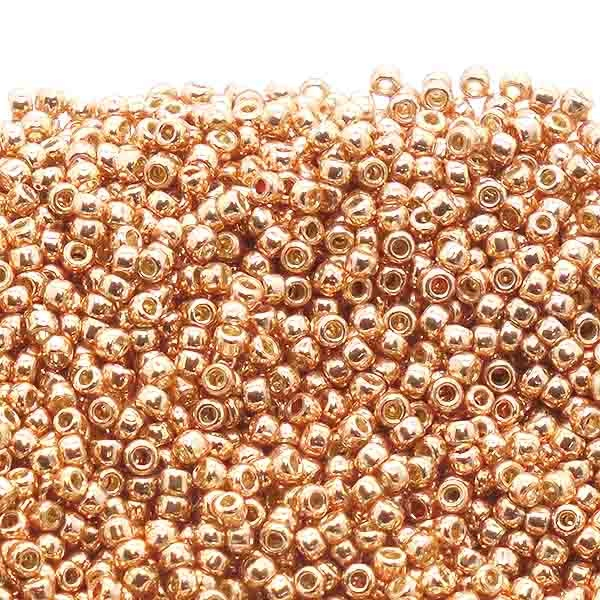 img seed size beads galvanised round matte cosmos opaque toho rose bead gold