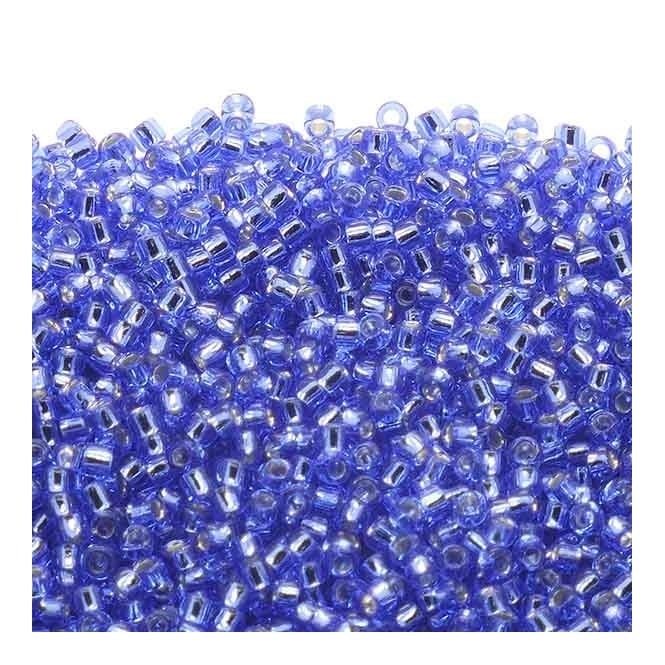 Seed Beads 15/0 - Silver Lined Sapphire - 10g