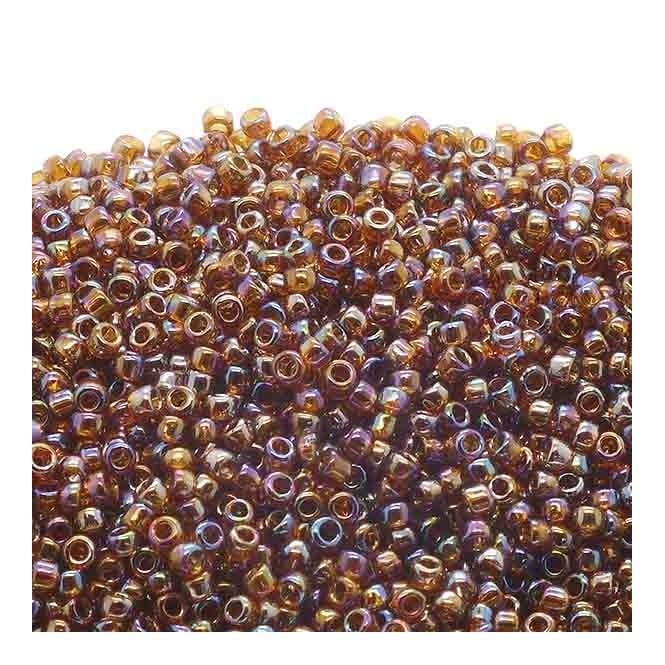 Seed Beads 15/0 - Transparent Rainbow Smoky Topaz - 10g
