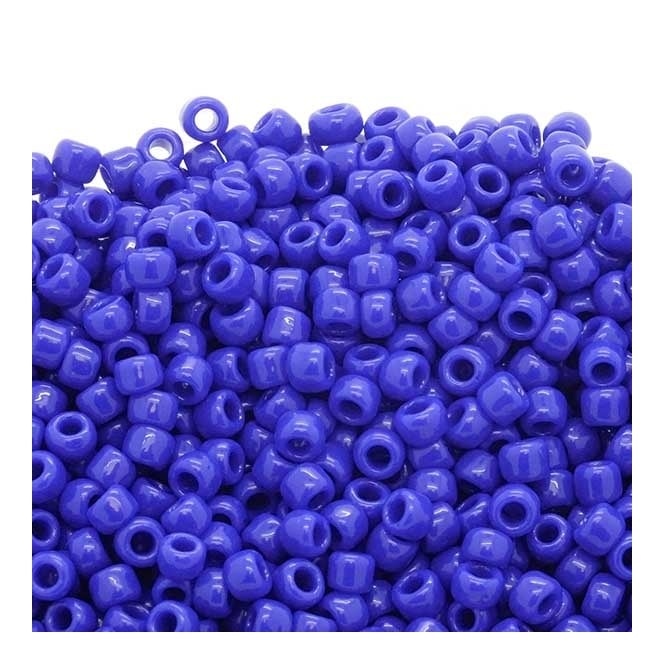 Seed Beads 6/0 - Opaque Navy Blue - 10g