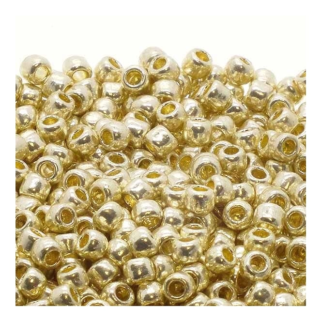 Seed Beads 6/0 - Permanent Finish Galvanized Aluminium - 10g