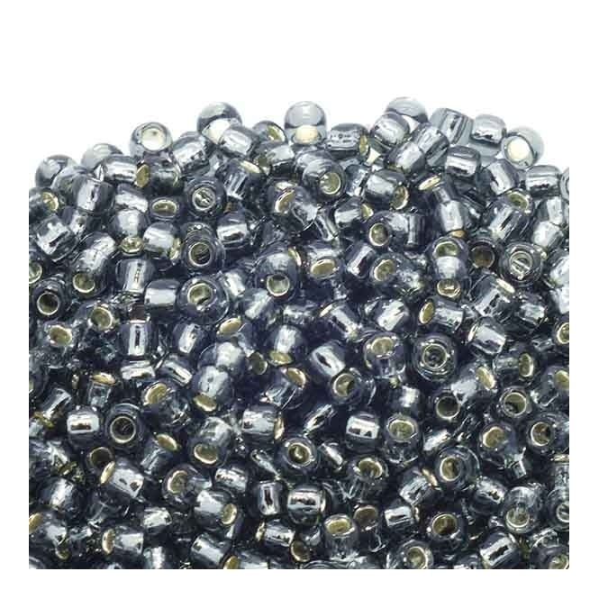 Toho Seed Beads 6/0 - Silver Lined Grey - 10g