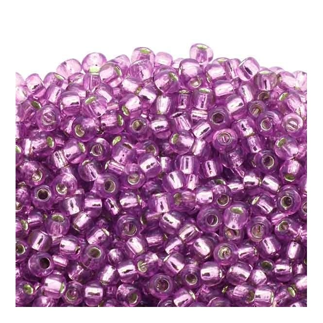 Seed Beads 6/0 - Silver Lined Light Grape - 10g