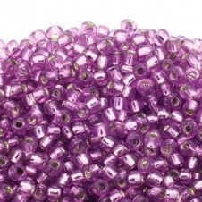 Toho Seed Beads 6/0 - Silver Lined Light Grape - 10g