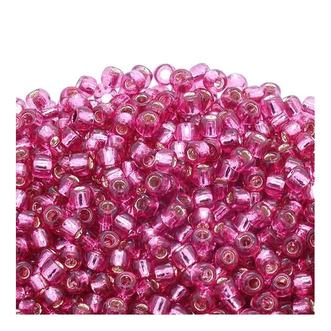 Seed Beads 6/0 - Silver Lined Mauve - 10g