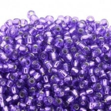 Toho Seed Beads 6/0 - Silver Lined Purple - 10g