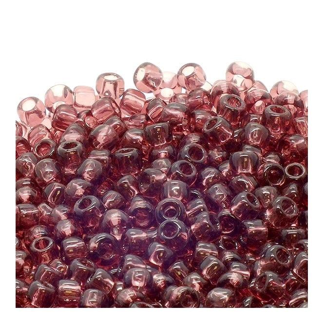 Toho Seed Beads 6/0 - Transparent Medium Amethyst - 10g