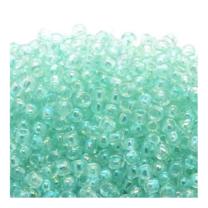 Seed Beads 6/0 - Transparent Rainbow Aqua - 10g