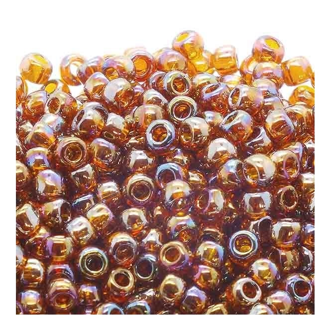 Toho Seed Beads 6/0 - Transparent Rainbow Smoky Topaz - 10g