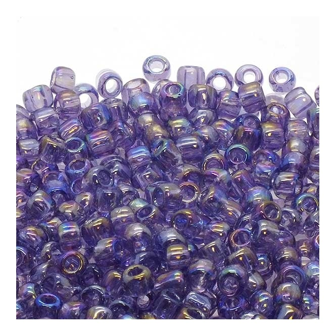 Toho Seed Beads 6/0 - Transparent Rainbow Sugar Plum - 10g
