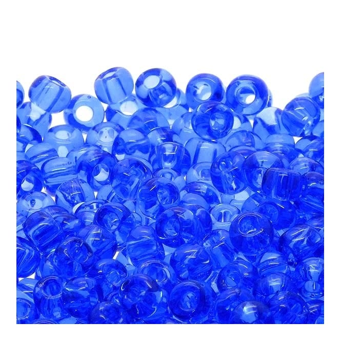 Seed Beads 6/0 - Transparent Sapphire - 10g