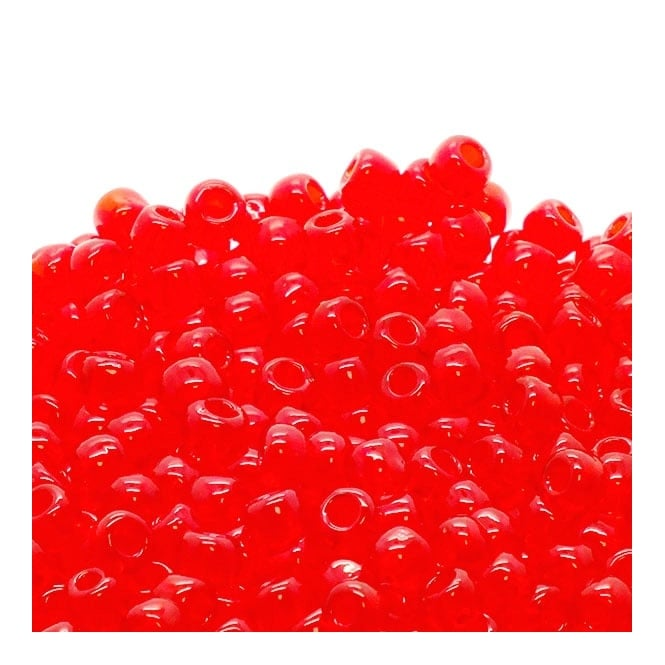 Seed Beads 6/0 - Transparent Siam Ruby - 10g