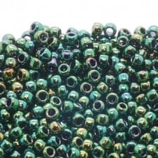 Toho Seed Beads 8/0 - Higher Metallic June Bug - 10g