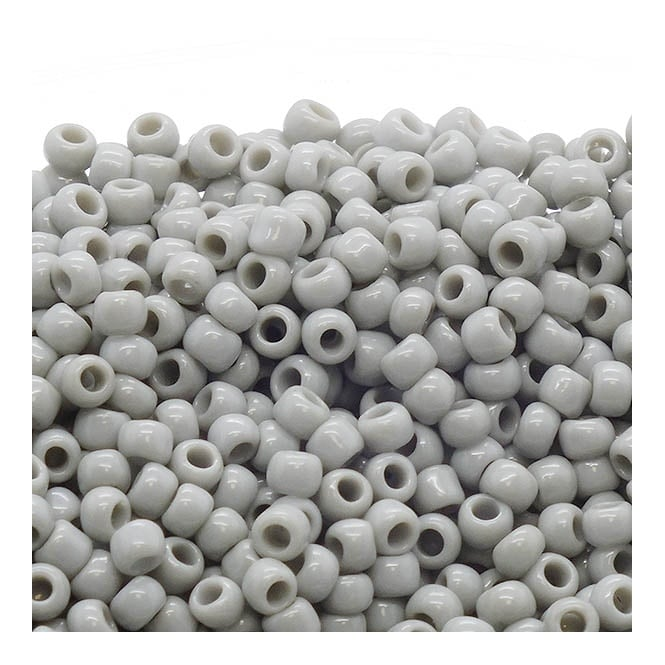 Seed Beads 8/0 - Opaque Grey - 10g