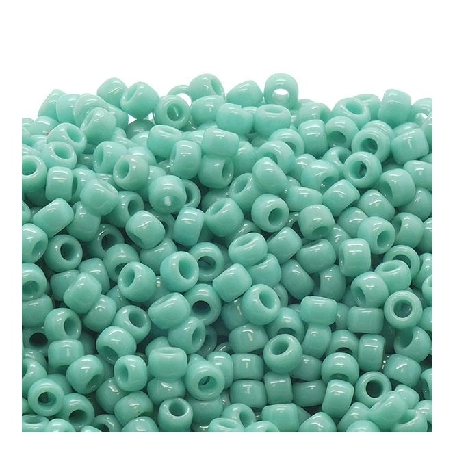 Seed Beads 8/0 - Opaque Turquoise - 10g